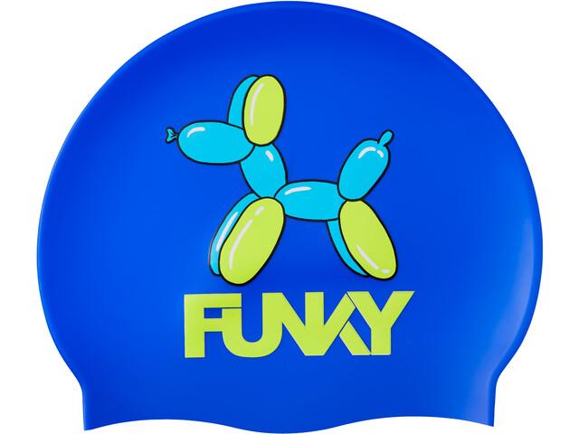Funky Trunks Silicone Swimming Cap Niños, azul